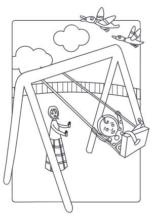 Thumbnail of Nana Duck Swing Colouring Sheet