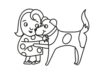 Thumbnail of Nana Duck dog colouring sheet